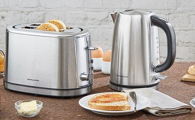 Fast Boil Stainless Steel Kettle Toaster Set