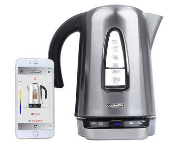 LED App Controlled Kettle With White Smartphone