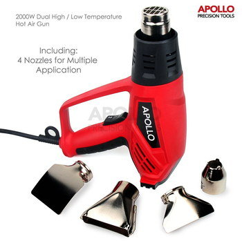 Temperature Controlled Heat Gun In Red And Black