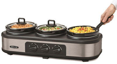 Big 3 Pots Cooker Lunch Warmer With 3 Black Dials