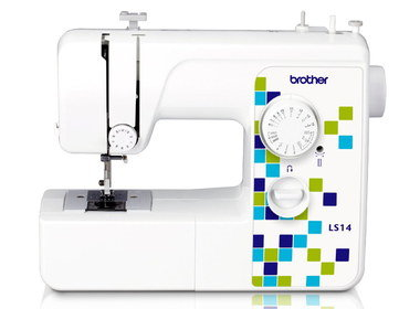 First Sewing Machine With Blue Pattern