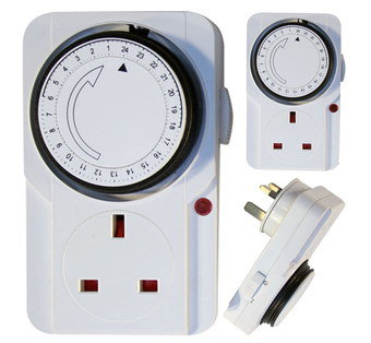 24 Hours Home Plug Lamp Timer With Round Dial