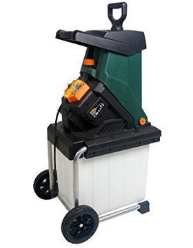 50L Portable Chipper Shredder In Black