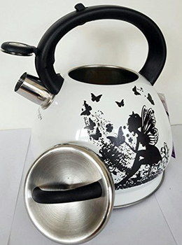 Eco-Friendly Whistling Trendy Kettle With Elf Design