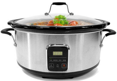 6.2 Litres Ceramic LED Slow Cooker With Glass Lid