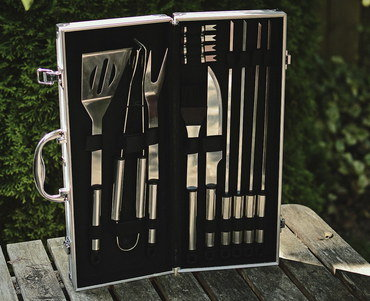 Stylish 14x BBQ Outdoor Grill Tools With Cutlery