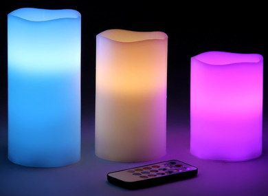 Soothing Flicker LED Candles With Black Remote Control