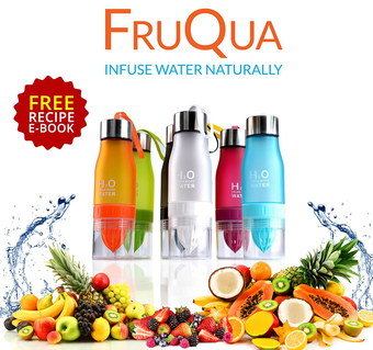 Drink Bottle With Fruit Infuser With eBook