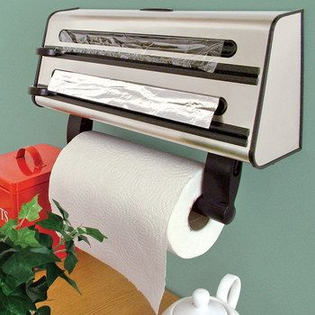Wall Mounted Kitchen Roll Holder In Steel