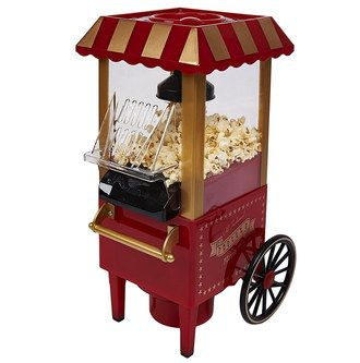 Air Popcorn Maker In Red And Gold