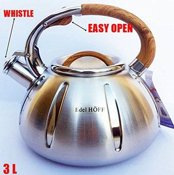 Steel Kettle For Induction Hob With Bakelite Grip