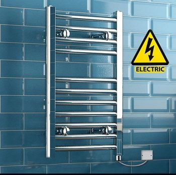 Top-Grade UK Steel Towel Radiator On Tiled Wall