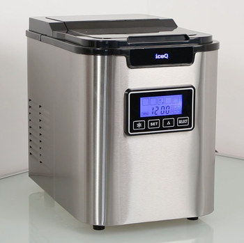 150W Ice Cube Making Machine In Brushed Steel