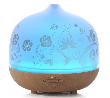 AC Electric Aroma Diffuser With Wood Base