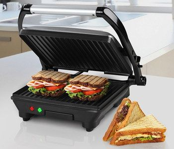 1500W Sandwich Maker Grill With Black Handle