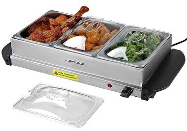 300 Watts Buffet Food Warming Plate With Clear Lids