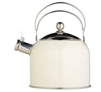 Cream Induction Kettle With Steel Grips