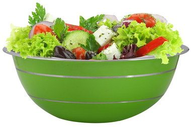 Deep Style Large Green Mixing Bowl With Salad