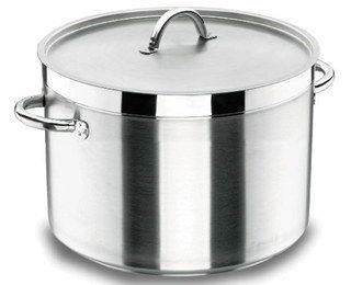 Stainless Steel Cookware Stock Pot With Metal Cover