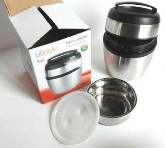 Rounded Thermos Food Container With Box