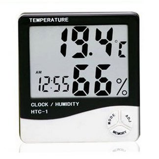 niceEshop LCD Electronic Display Hygrometer In Black And White Exterior