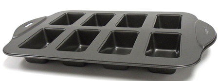 Black Non-Stick Mini Finger Loaf Tin With 8 Holes
