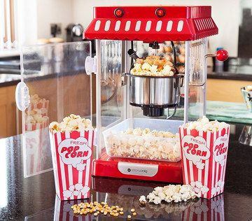 Old Fashioned Popcorn Machine With Steel Pot
