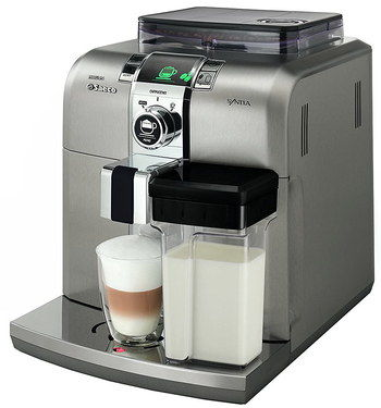 Small Steel Industrial Coffee Machine With Creamy Latte