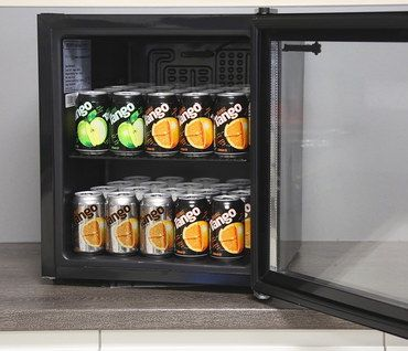 48L Small Quiet Table Mini Fridge In Black