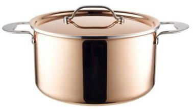 Non-Stick Steel Copper Stock Pot With Smooth Exterior