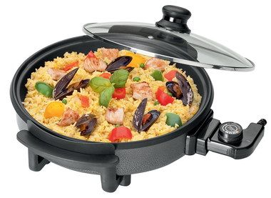 Big Electric Stir Fry Pan With Transparent Lid