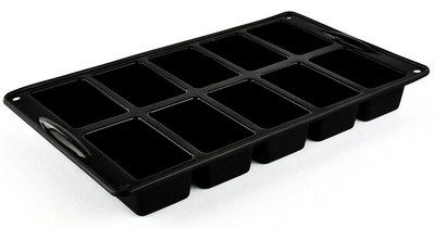 Small 10 Holes Mini Loaf Tray With Black Exterior