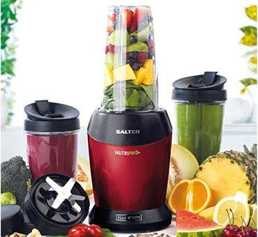 1000W Electric Citrus Juicer In Black And Red