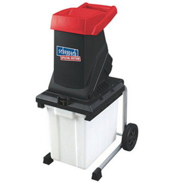 Industrial Wood Chipper Shredder In Black And Red