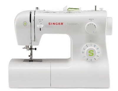 White Sewing Machine With Curvy Style