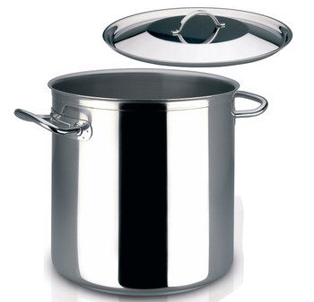 Huge 16.5L Steel Stockpot In Polished Finish