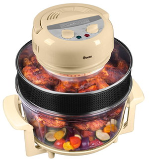 15L Halogen Oven With Timer In Cream Finish