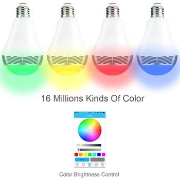 16 Million Colours LED Colour Changing Bulb With RGB Chart
