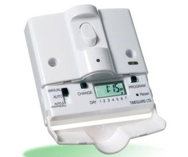 Light Switch Timer With White Exterior