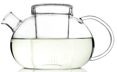 Microwave Safe Cute Glass Tea Pot With Short Spout