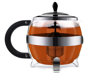 1.2 Litres Large Glass Teapot With Infuser And 3 Legs