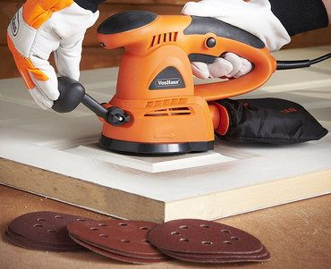 Light Weight Small Sander In Bright Orange