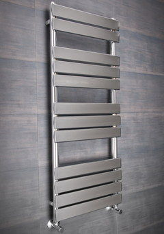 Steel Layer Bathroom Heated Towel Rail Flat Style