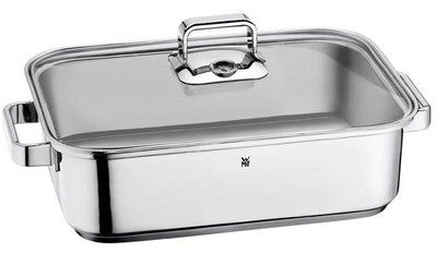 Cromargan Steel Roaster With Glass Lid And Side Grips