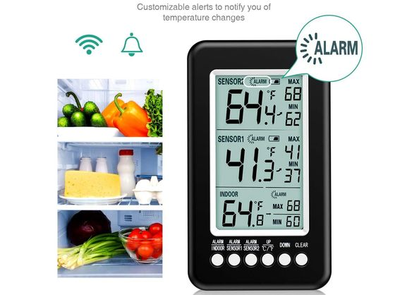 Fridge And Freezer Thermometer On Alert Screen