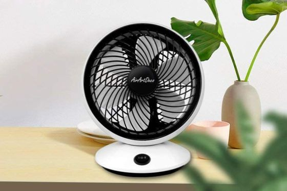 Low-Noise Fan In White And Black