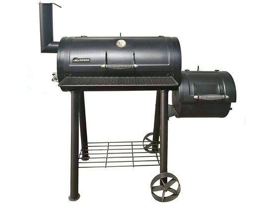 Barrel Style Charcoal Barbecue In Black