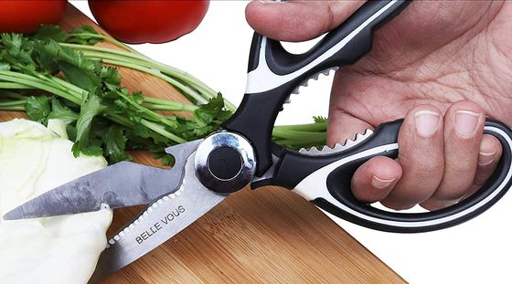 Sharp Kitchen Scissors In White And Black