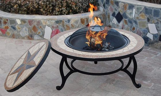 Fire Pit Bowl With Mosaic Pattern