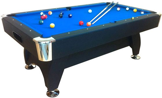 Black Pool Table With Blue Surface